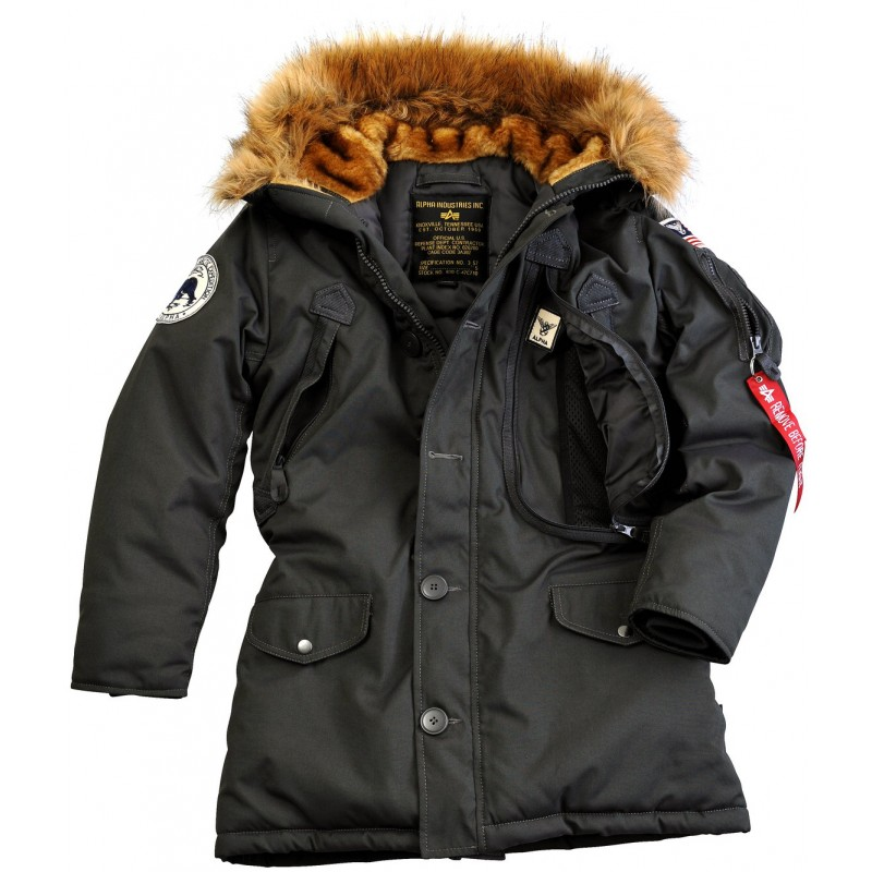 alpha industries polar jacket wmn damen black. Black Bedroom Furniture Sets. Home Design Ideas