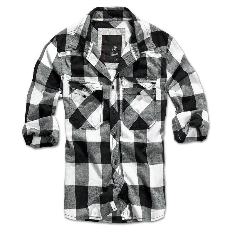 brandit check shirt black white usarmy. Black Bedroom Furniture Sets. Home Design Ideas