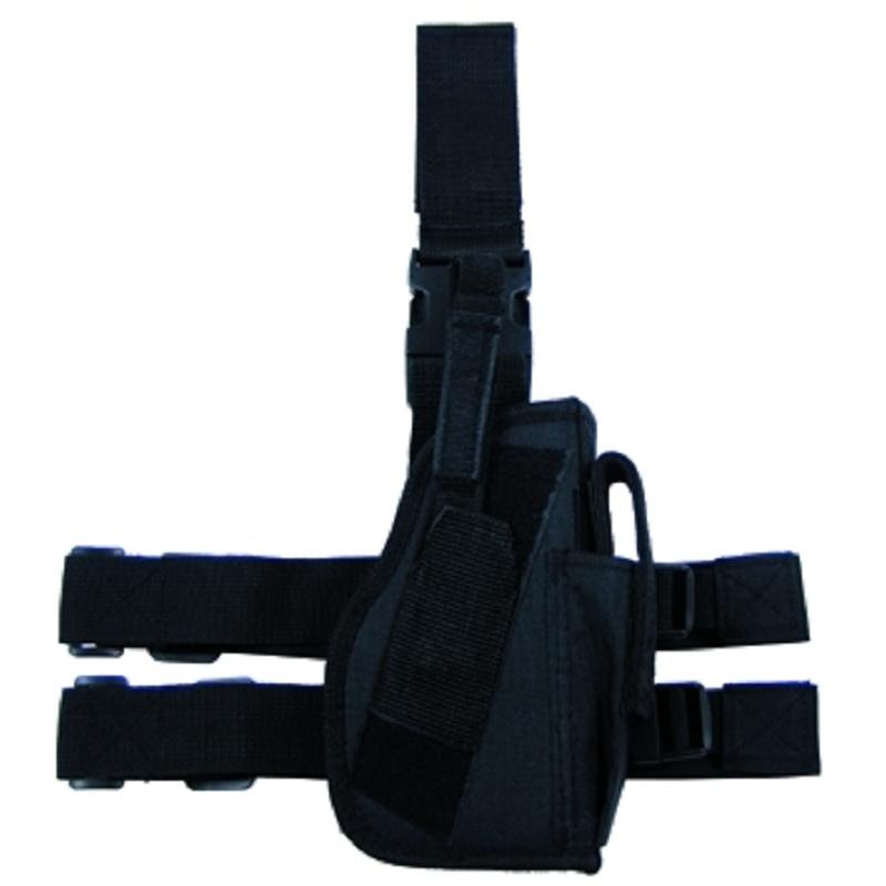 Кобура тактическая набедренная, цвет черный.
