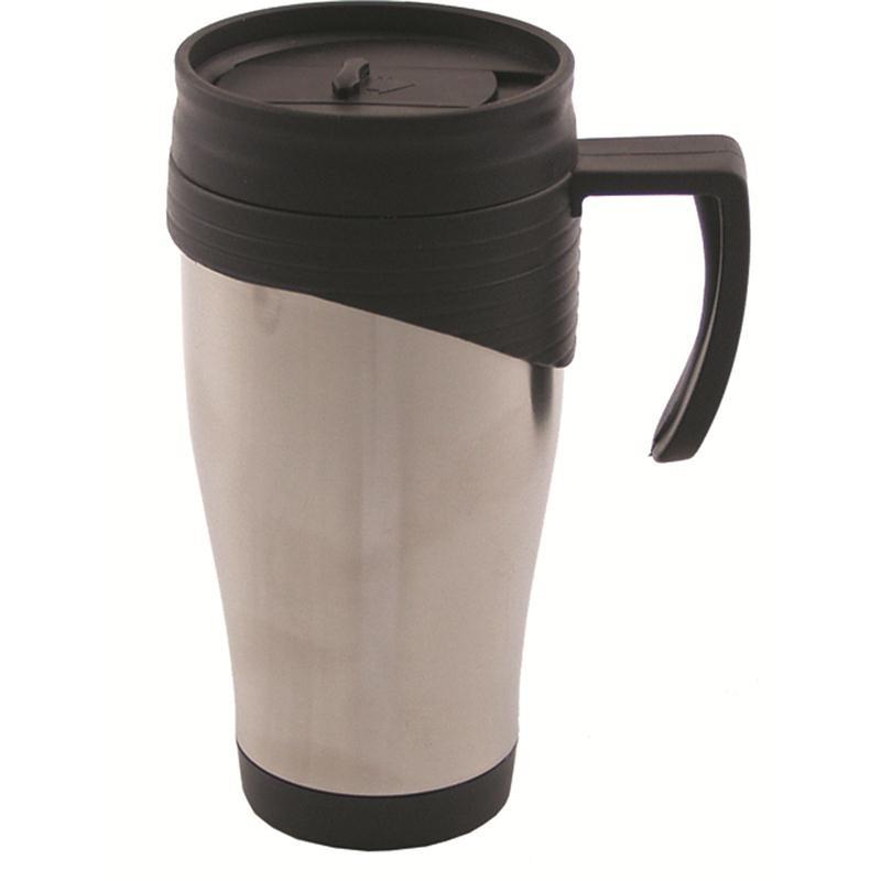 mfh tasse edelstahl doppelwandig 400 ml mit kunststoffgriff usarmy. Black Bedroom Furniture Sets. Home Design Ideas