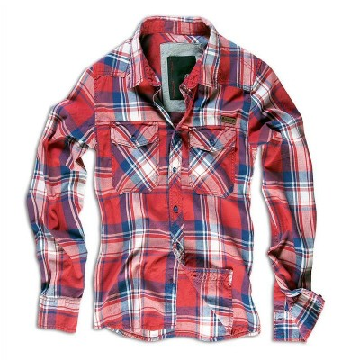 BRANDIT Check Shirt, red S