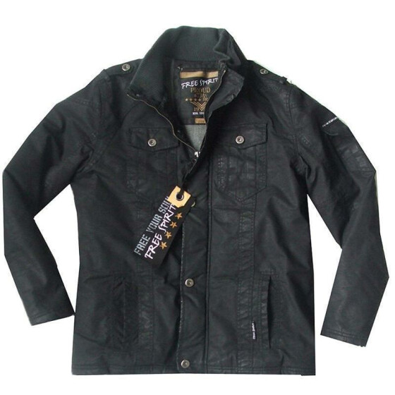 FREE SPIRIT SOLTAN Jacket, gewachst, black