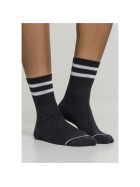 Urban Classics 2-Tone College Socks 2-Pack, black/white