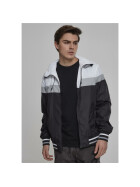 Urban Classics College Windrunner, blk/wht/gry