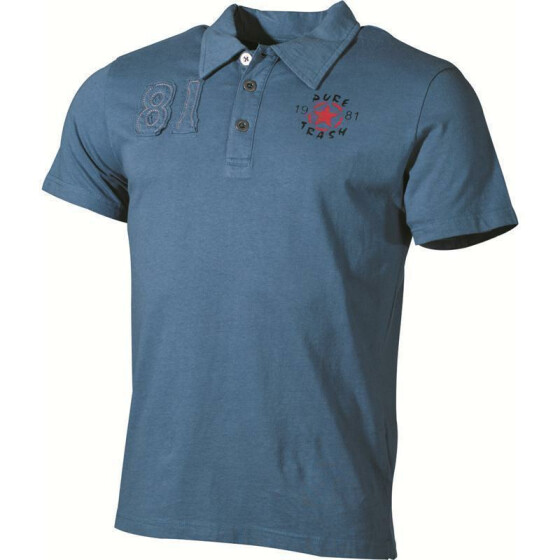 MFH Polo-Shirt, mit Knopfleiste, Pure Trash, blue M