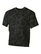 MFH US T-Shirt, halbarm, night camo XL
