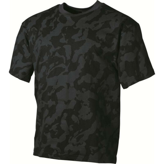 MFH US T-Shirt, halbarm, night camo XXL