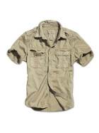 SURPLUS Raw Vintage Shirt, kurzarm, beige washed S