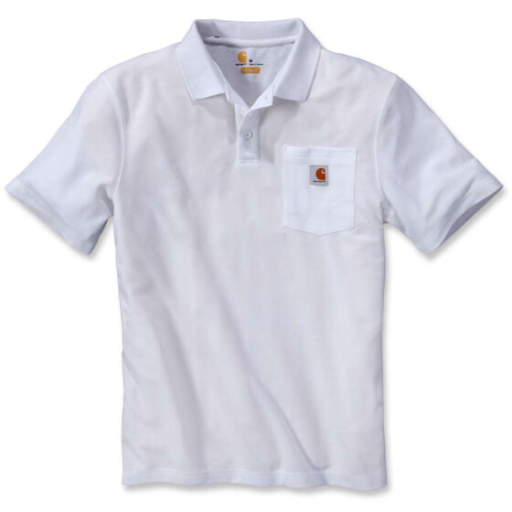 Carhartt Work Pocket Polo S S White