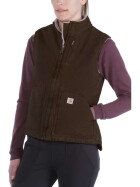 CARHARTT Womens Sandstone Mock Neck Vest, dark brown