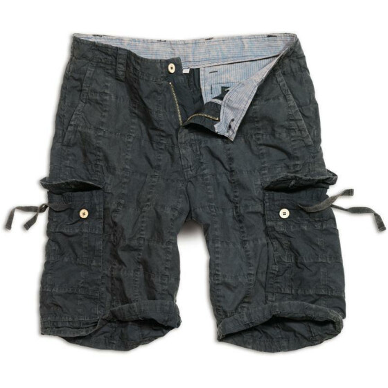 SURPLUS Checkboard Shorts, black S - 84 cm