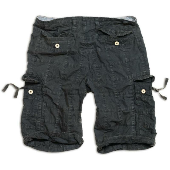 SURPLUS Checkboard Shorts, black XL - 100 cm