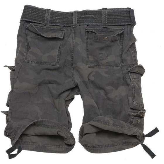 SURPLUS Division Short, blackcamo 5XL - 116 cm