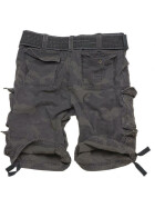 SURPLUS Division Short, blackcamo 7XL - 128 cm