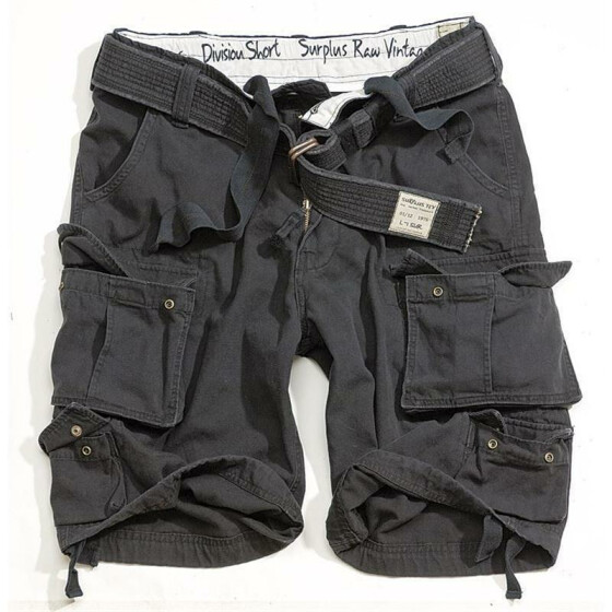 SURPLUS Division Short, black 6XL - 122 cm