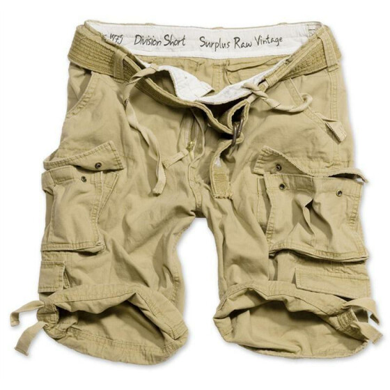 SURPLUS Division Short, sand 4XL - 112 cm