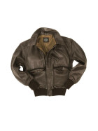 MILTEC US Fliegerjacke A2 Leder, brown