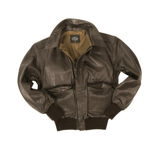 MILTEC US Fliegerjacke A2 Leder, brown S