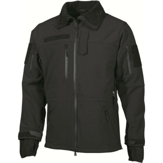MFH Soft Shell Jacke High Defence, schwarz 3XL