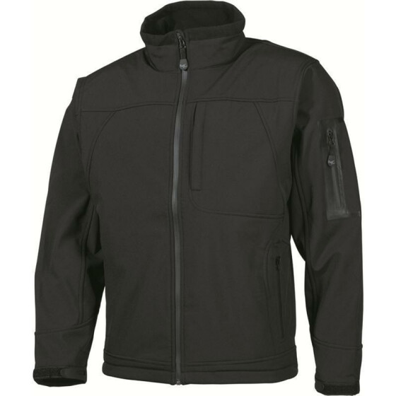 MFH Soft Shell Jacke Flying, schwarz 3XL