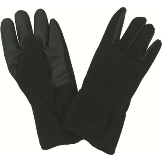 MFH Fleece-Fingerhandschuhe Alpin, winddicht, schwarz XL