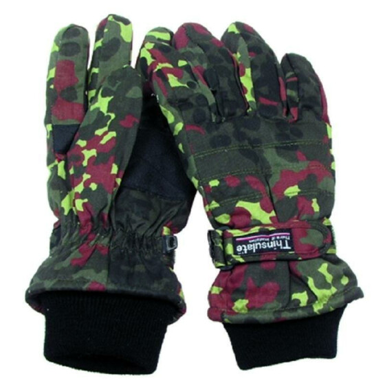 MFH Fingerhandschuhe, Thinsulate, flecktarn M