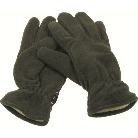 MFH Fleece-Fingerhandschuhe, Thinsulatefütterung, oliv XL