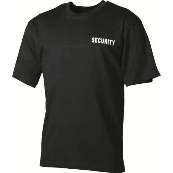 MFH T-Shirt Security, black XXL