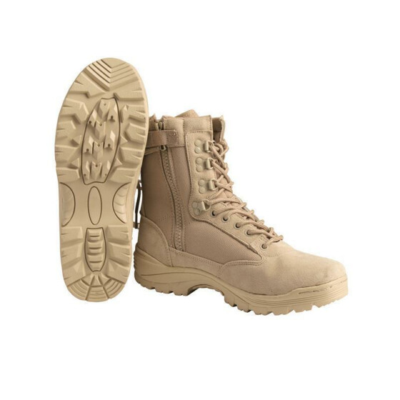 MILTEC Tactical Boot,mit YKK-ZIPPER, khaki US 14 | EU 47