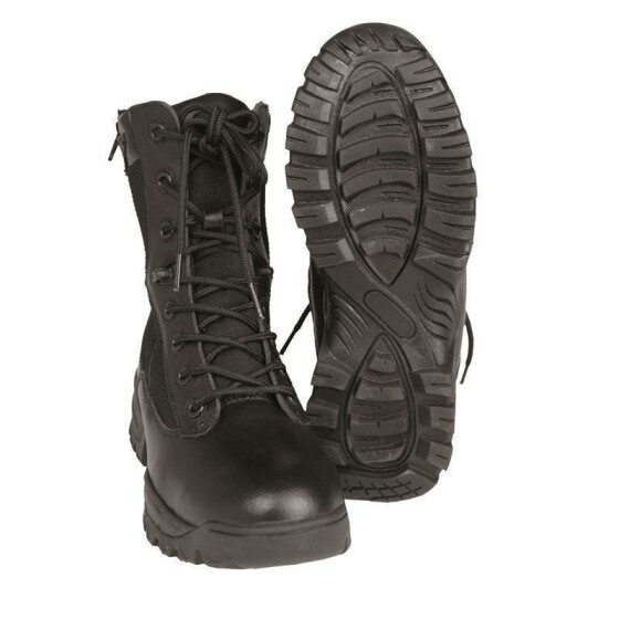 MILTEC Tactical Boots, Two-Zip, schwarz 46