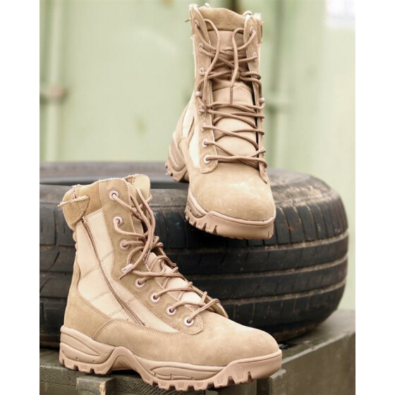MILTEC Tactical Boots, Two-Zip, coyote 45