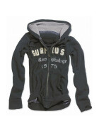 SURPLUS Ladies Hoodie, washed, black XL