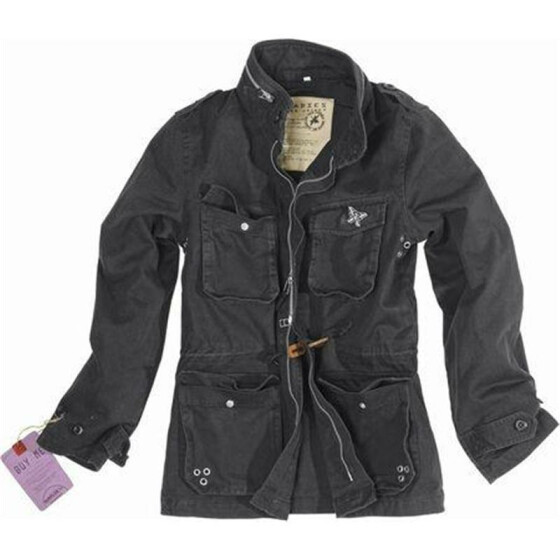 SURPLUS Ladies M65 Jacke, washed, black S / 36