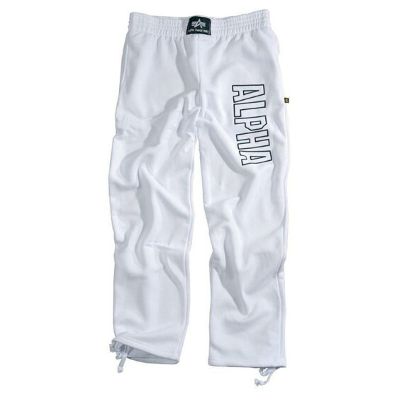 Alpha Industries  Track Pants, white
