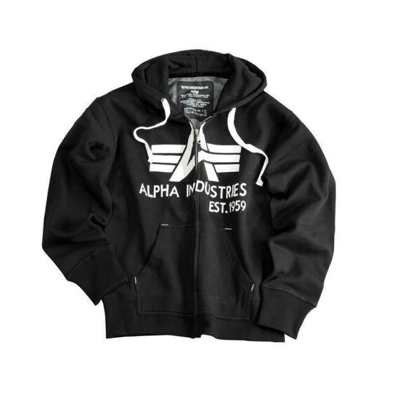 Alpha Industries  Big A Classic Zip Hoody, black