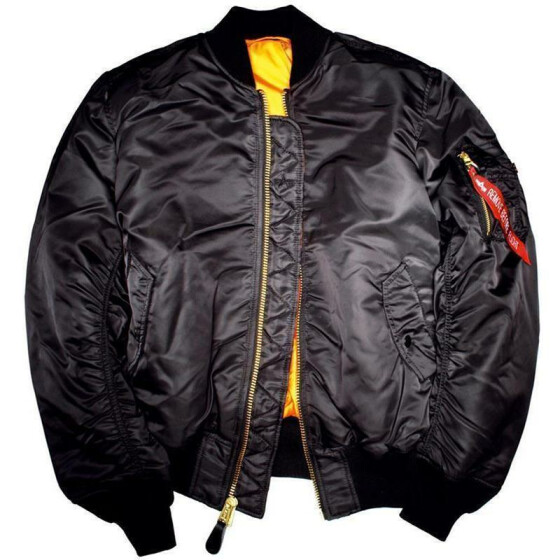 Alpha Industries  US Pilotenjacke MA-1, black