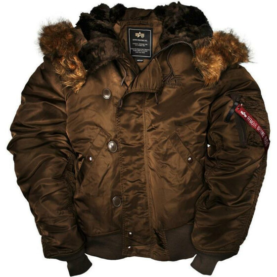 Alpha Industries  US Pilotenjacke N2B, brown