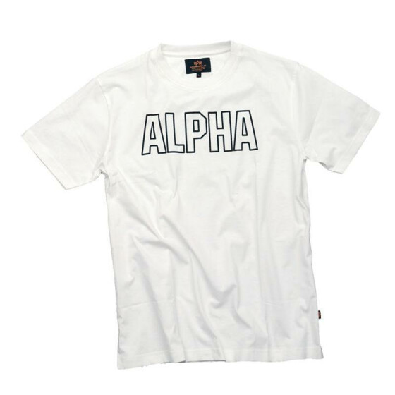 Alpha Industries  Track Shirt, white