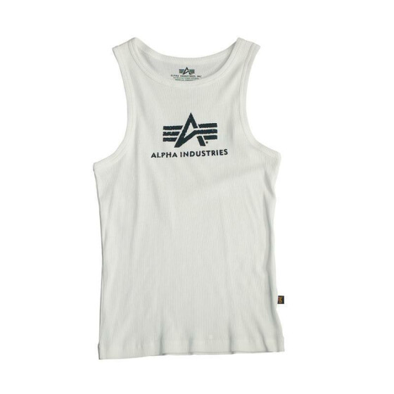 Alpha Industries LOGO TANK, white-black