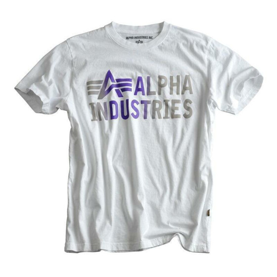 Alpha Industries  BASICT T Print 3, white