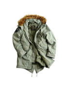 Alpha Industries  Hooded Fishtail, olive