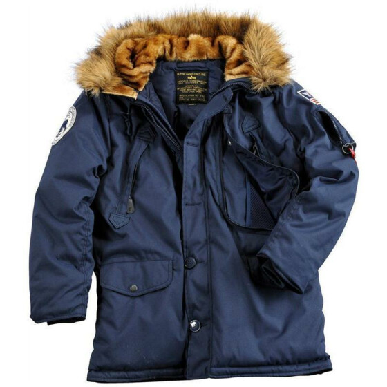 Alpha Industries  POLAR JACKET, rep blue M