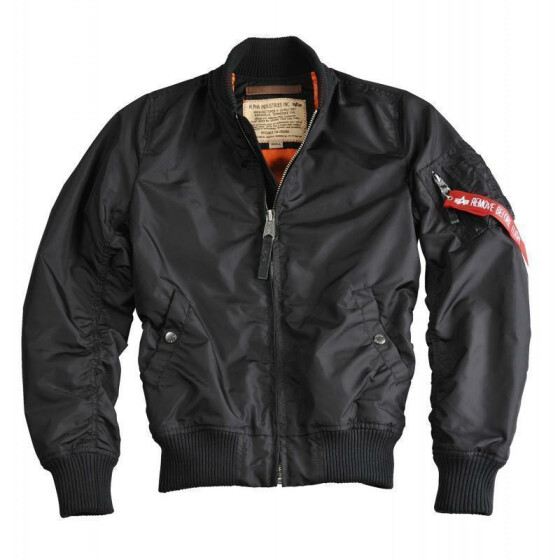 Alpha Industries  MA-1 TT, black S