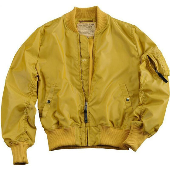 Alpha Industries MA-1 TT, mustard