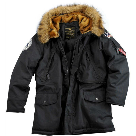 Alpha Industries  POLAR JACKET, black