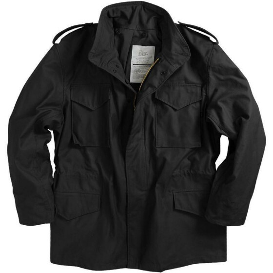 Alpha Industries  US Feldjacke M65, black XS