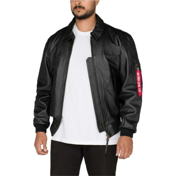 Alpha Industries  Leather CWU-45/P, black 3XL