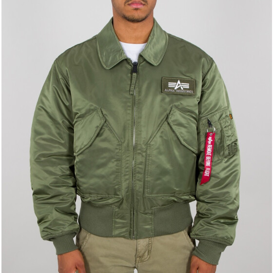 Alpha Industries  CWU 45/P Nylon Flight Jacket , sage green XS