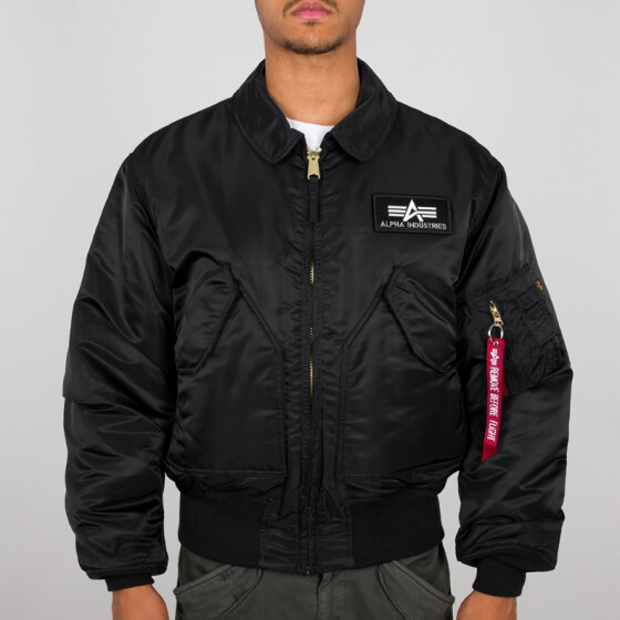 Alpha Industries  CWU 45/P Nylon Flight Jacket , black L