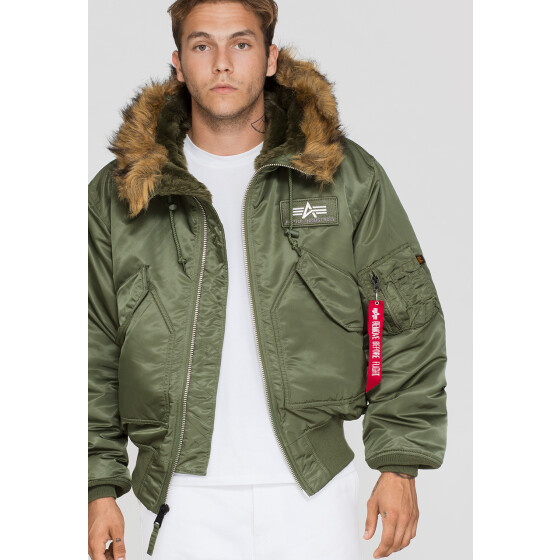 Alpha Industries  CWU HOODED, sage green M